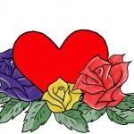 kreslene-srdce,-ruze-216170